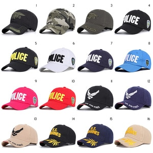 Navy Air Force Police Army Baseball Caps Mens Caps and Hats Embroidery Streetwear Trucker Hip Hop Dad Hat