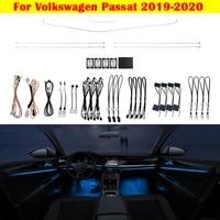 ambient light set decorative lighting 10 color atmosphere lamp led strip for volkswagen passat 2019 2020 automatic conversion