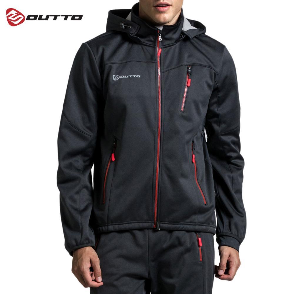Jersey de ciclismo Outto, capucha de tela polar para hombre, chaquetas térmicas de invierno para ciclismo