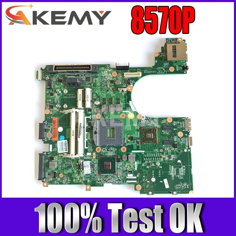 Akemy 686970-001 686970-501 اللوحة الرئيسية للكمبيوتر المحمول HP Elitebook 8570P لوحة أم QM77 DDR3 HD7550M بطاقة فيديو