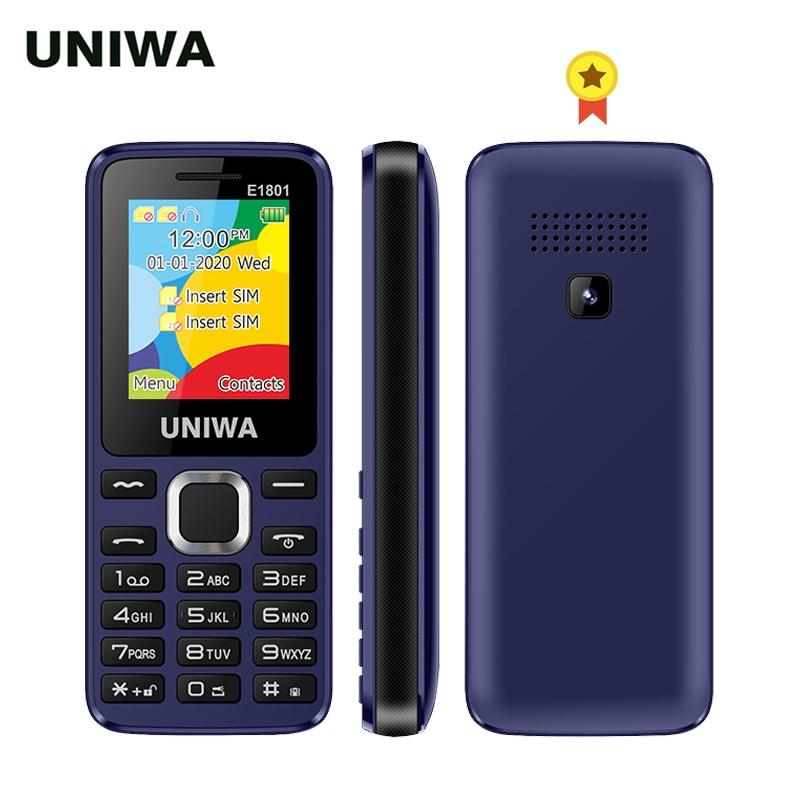 UNIWA E1801 Dual SIM Dual standby 1.77'' 800mAh Rear Camera MP3 MP4 FM with Flashlight Loud Speaker 8 Days Standby Senior Mobile