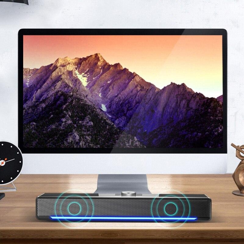 2021 новый компьютер Bluetooth-совместимые настольные динамики Soundbar двойной рог 4 единицы стерео сабвуфер домашний кинотеатр для ПК ТВ 3W