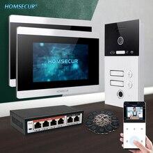 "HOMSECUR 7"" PoE WLAN IP Video Door Entry Security Intercom 1.0MP+Waterproof Camera 110°  BC131IP-2S+BM715IP-S"