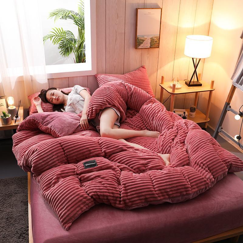 غطاء سرير قطيفة ، 21 بطانية دافئة ناعمة على الوجهين ، غطاء سميك سحري ، لحاف/غطاء بطانية ، مقاس كينغ/كوين