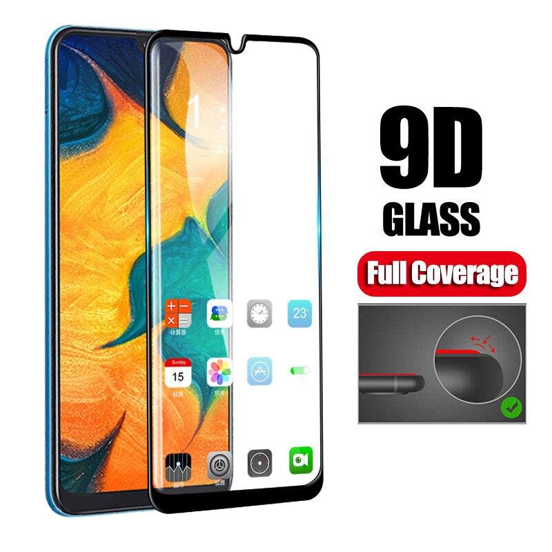 9d na telefon ze szkła hartowanego na Samsung Galaxy A10 A20e A30 A40 A40s A50 A60 A70 A80 A90 pełna pokrywa akcesoria Coque film