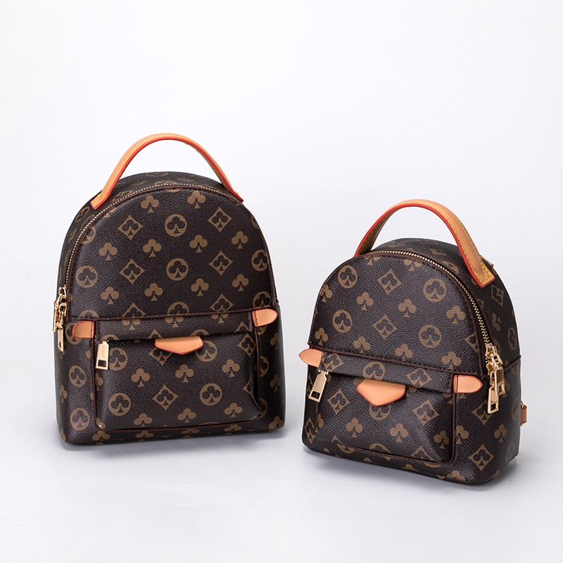 Women's backpack 2020 new women's small schoolbag Korean version backpack printed women's bag fashion personality backpack
