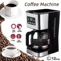automatic electric office drip coffee machine 12 cups black espresso coffee american boiled tea 950w machine