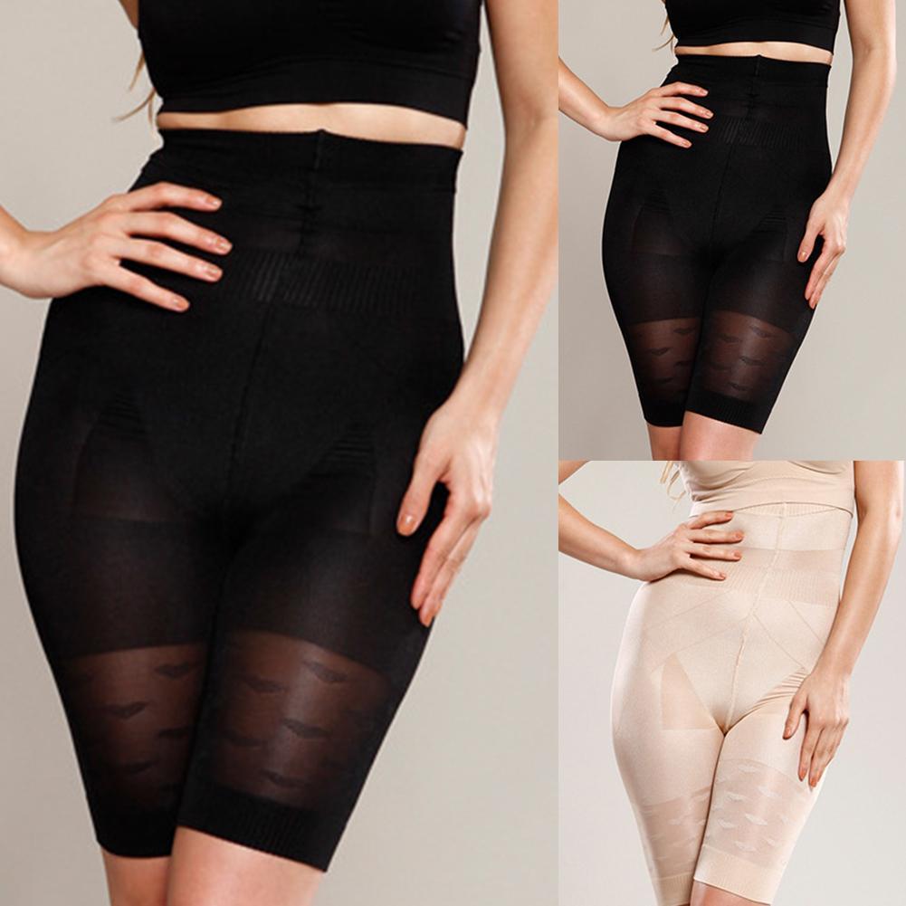 Женское Бесшовное Корректирующее белье с высокой талией, однотонное Корректирующее белье с регулировкой живота, магический утягивающий бельевой корсет, штаны для сжигания жира
