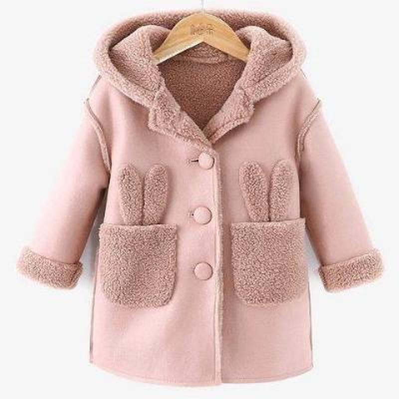 Осень-зима 2020, новое шерстяное пальто для девочек, детская одежда, плюшевая шапка, шерстяное пальто средней длины, шерстяное пальто для мале...