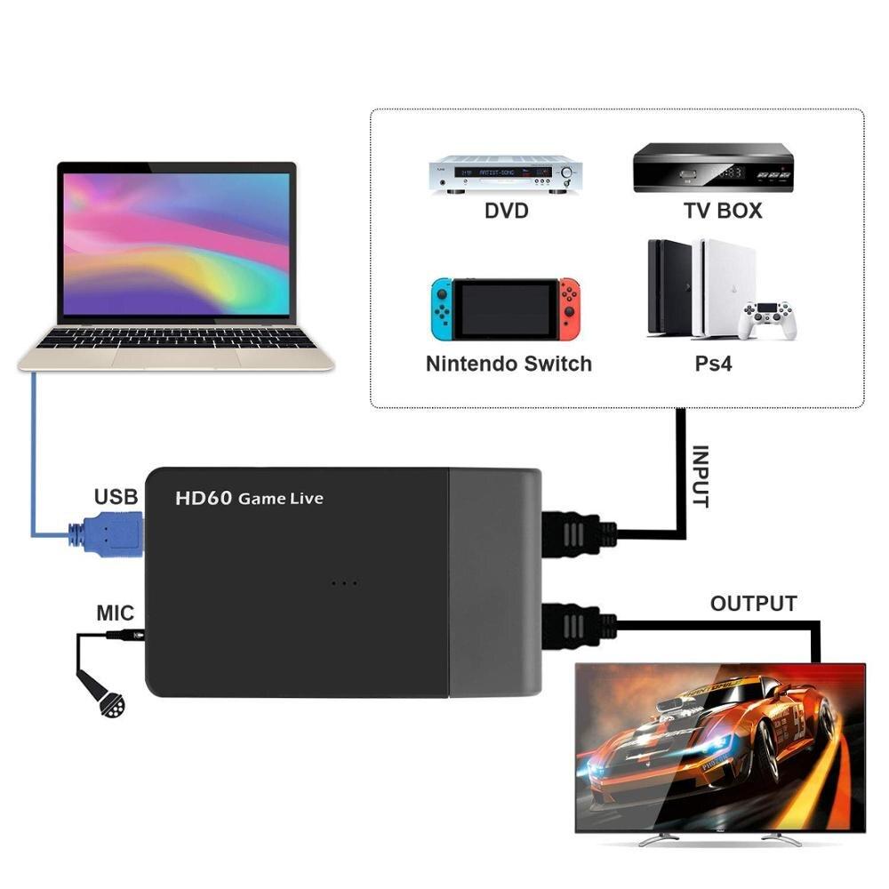 Ezcap261M Usb 3,0 HD видео игра, захват 4K 1080P видео в реальном времени HDMI конвертер поддержка 4K видео для Xbox One Ps4 WiiU w/Mic