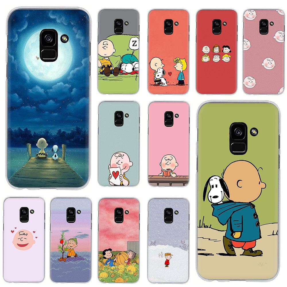 Charlie Brown popular duro caso de la cubierta del teléfono para Samsung Galaxy A5 A6 A7 A8 A9 A10S A20S A30S A40S A50S A60 A70