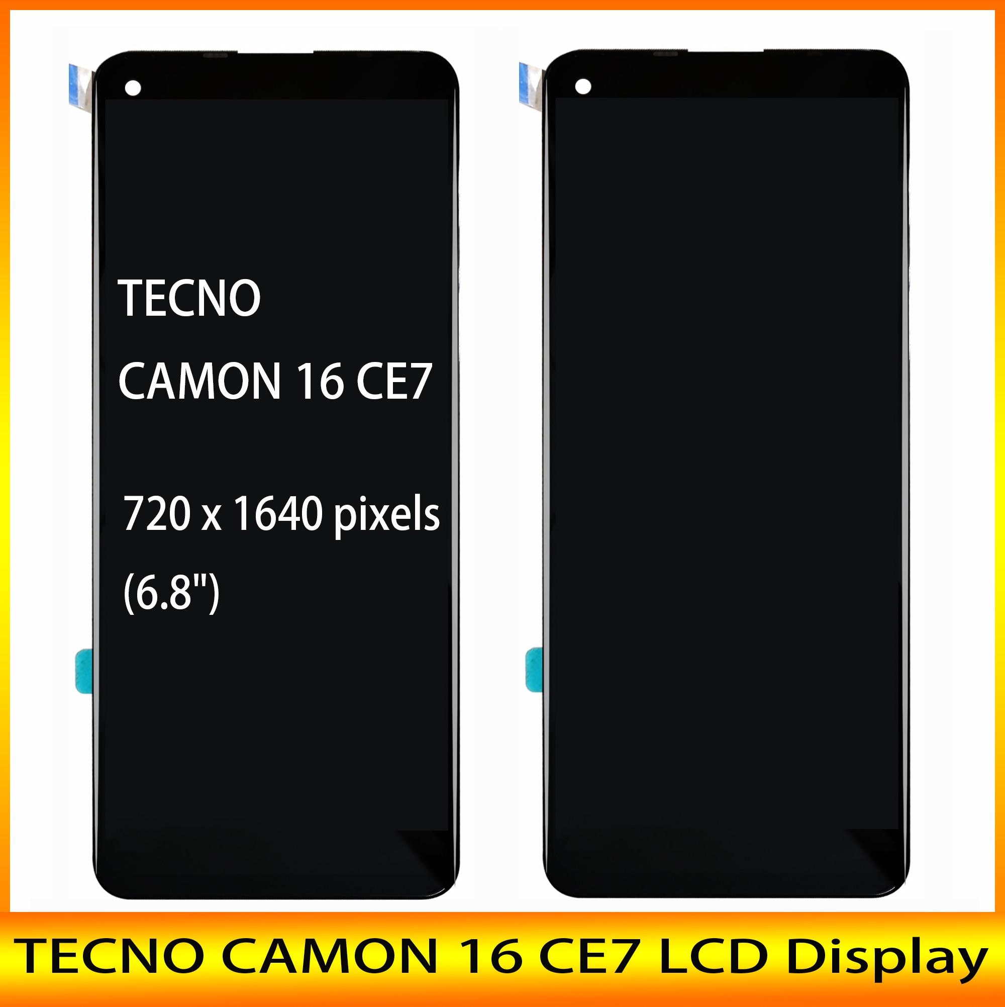 جديد 6.8 بوصة LCD ل TECNO CAMON 16 CE7 / 16 SE شاشة الكريستال السائل + شاشة تعمل باللمس digizpeter الجمعية مع أدوات