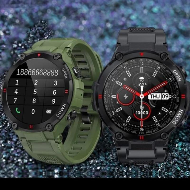 2021 جديد ساعة ذكية الرجال بلوتوث دعوة 400mah بطارية كبيرة في الهواء الطلق جهاز مراقبة اللياقة الرياضية K22 Smartwatch الرجال لنظام أندرويد IOS