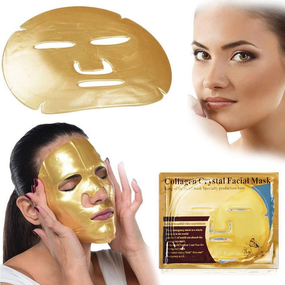 24k Gold Mask Anti-wrinkle Moisturizing Skin Mask Women Care Face Makeup Collagen Products E4S6