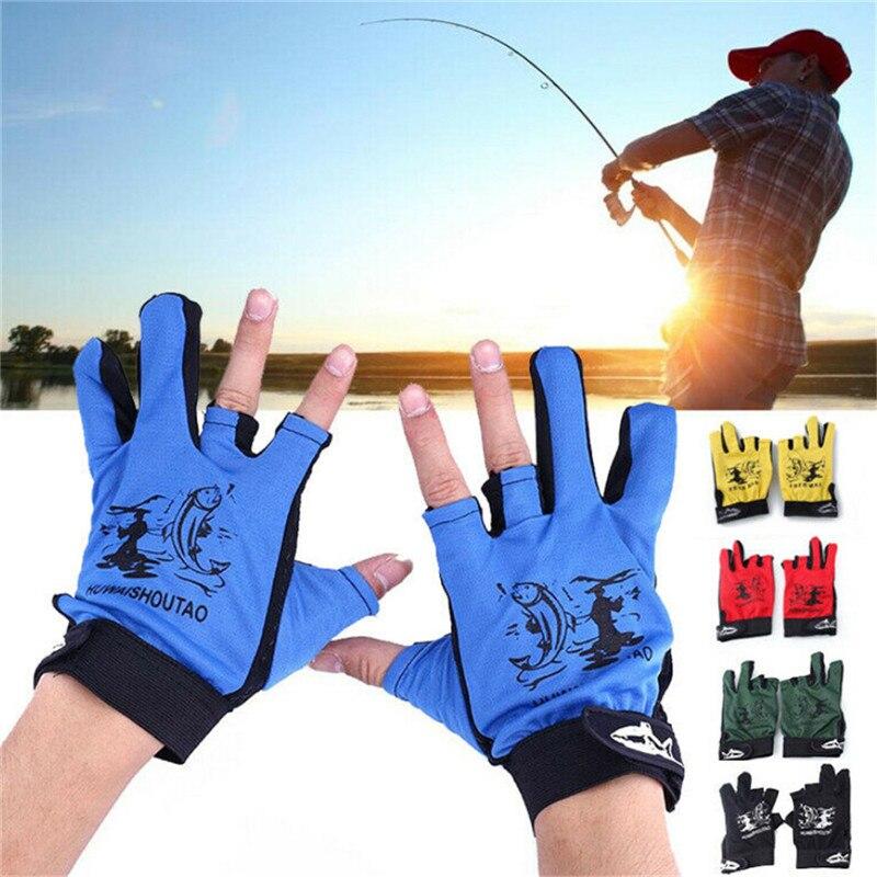 1 Pair Waterproof 3 Cut Finger Anti-slip Glove Non-Slip Hunting/Fishing Gloves Outdoor Sport Neoprene Protection Fish Equipment