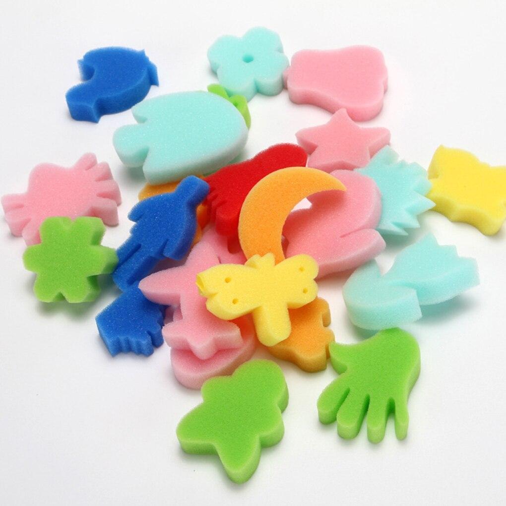 24Pcs Colorful Assorted Sponge Children DIY Painting Art Craft Education Toy Kid toy Sponge Set Chil