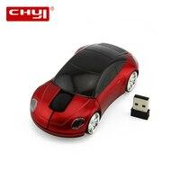 CHYI 2.4G Wireless Ergonomic Cool Car Shape Mouse USB Optical Mini Portable 3D Computer Mouse 1600 DPI Mice For Desktop Laptop