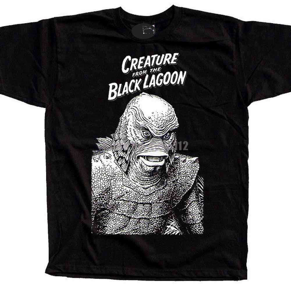 Kreatur Aus Die Black Lagoon Film Poster Mens Horror T-shirts Übergroßen T-Shirt Personalisierte T-shirts Polen T-Shirts Ateazl