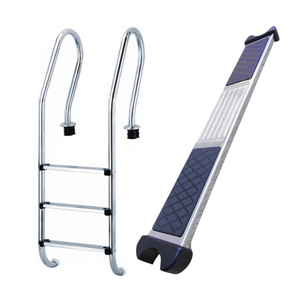 Basen schody pedał basen schody schodowe pedał 304 drabina ze stali nierdzewnej Kicks szczebel sprzęt do stepowania basen podwodny krok