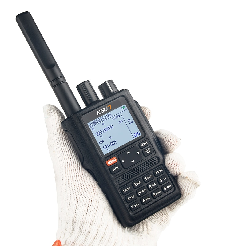 UV98D GPS Walkie Talkie Six Bands Frequency VOX SOS 10km Two Way Radio Uhf Vhf Scanner Talkie Walkie Long Range Comunicador
