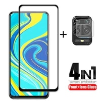 4 in 1 for xiaomi redmi note 9 pro glass for redmi note 9s tempered glass screen protector for redmi 9c note 9 pro 9t lens glass