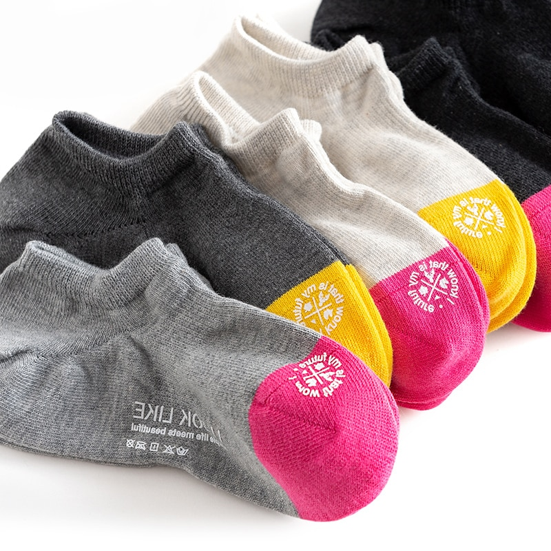 Caramella Invisible Ankle Socks Women's Socks Low-Cut Cute Japanese Cotton Spring and Summer Ins Tre