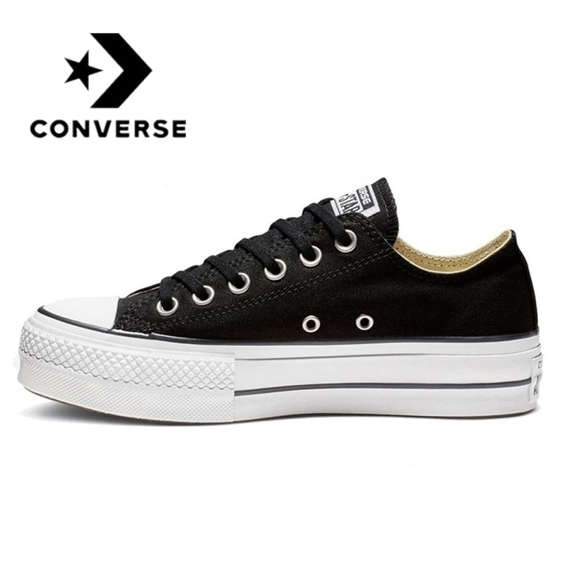 2021 Converse All Star Reverse sports shoes with leather platform for women women skateboard shoes with high platform black