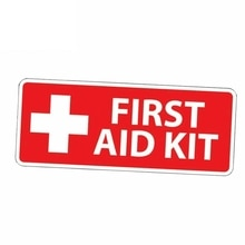 Hot Car Sticker RED First Aid Kit Emergency Safety Alert Graphic Accessories Vinyl Car Styling Cover