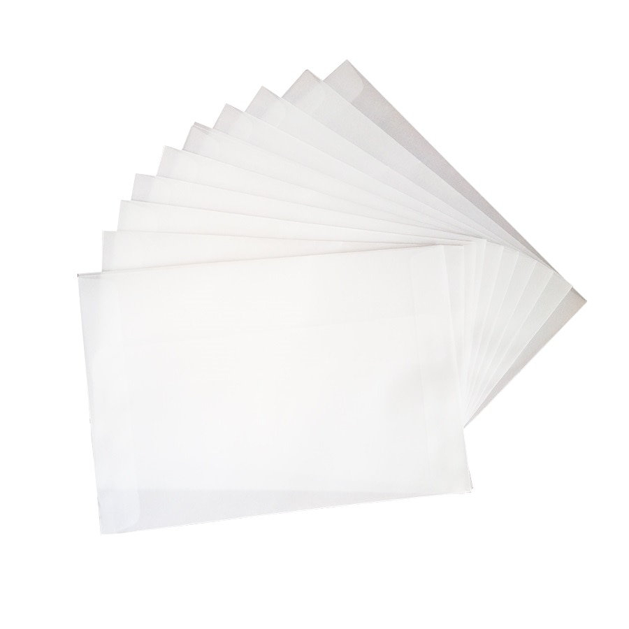 100pcs/lot Blank Translucent vellum envelopes DIY Multifunction Gift card envelope with seal sticker for wedding birthday