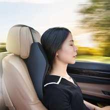 Car Pillows 3D Memory Foam Warm Ergonomic Car Neck Pillow Breathable PU Leather Car Seat Cushion Car Support Accessories