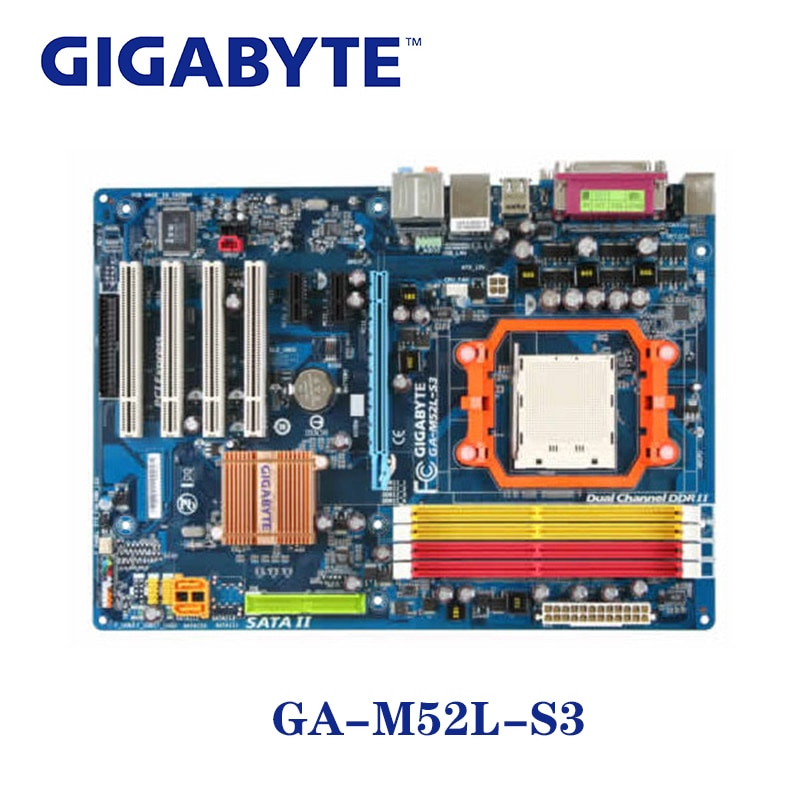 For nVIDIA nForce 520LE Gigabyte GA-M52L-S3 Socket AM2 Motherboard DDR2 16GB GA M52L S3 Desktop Systemboard ATX M52L-S3 Used