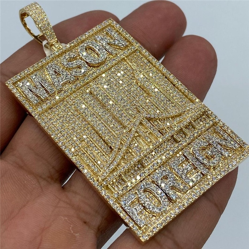 OTIY Custom Hip Hop Jewelry Diamonds Iced Out Men Charms S925 Moissanite Necklace Custom Pendants