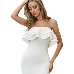 Sexy Strapless Sheath Bodycon Dress Women Night Club Party Dress Spaghetti Strap Bandage Dress Short Slim Dresses