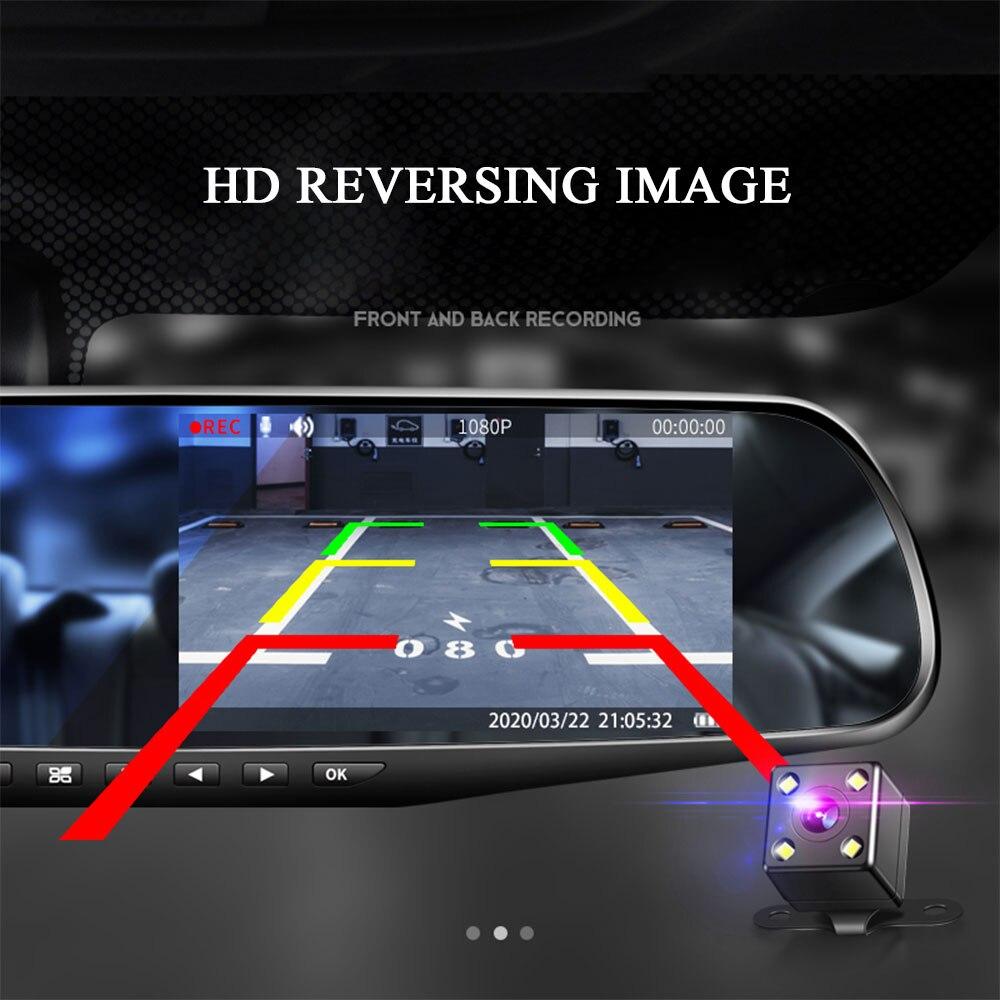 4,3-дюймовый автомобильный видеорегистратор, видеорегистратор, видеорегистратор Full HD 1080P, семейная автомобильная камера, циклическая запись...