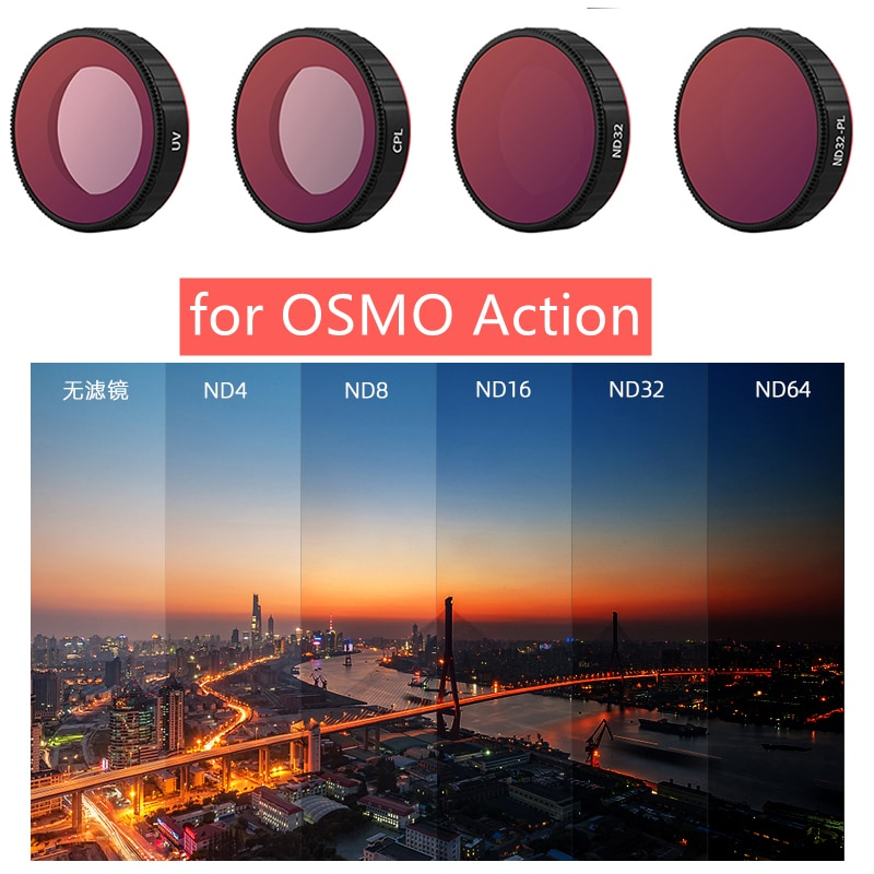 for OSMO Action CPL UV ND 4 8 16 32 Lens Filter ND4-PL ND8-PL ND16-PL ND32-PL Filters Set for DJI Osmo Action Camera Accessories