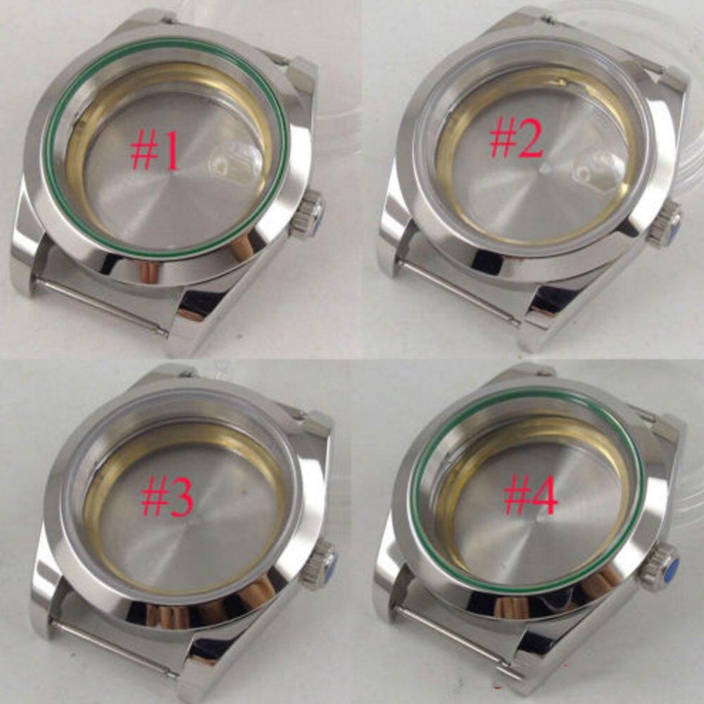 40 مللي متر زجاج الياقوت المعقم ساعة رجالية أوتوماتيكية صالح 2836 8215 821A 8205 حركة