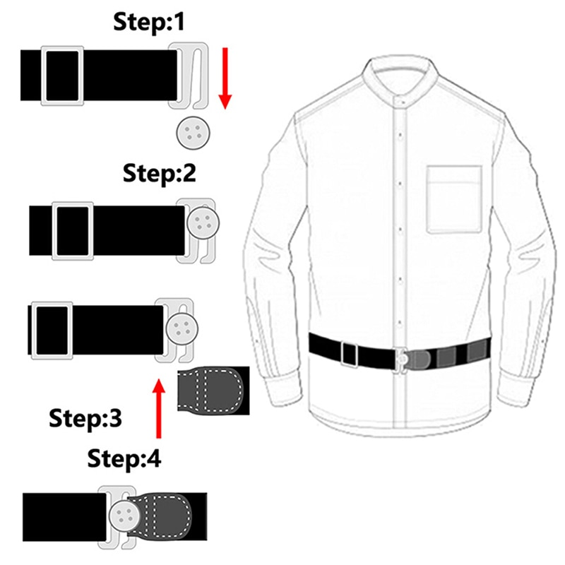 Подвязки для рубашек универсальные регулируемые эластичные, подтяжки для рубашек, для интервью