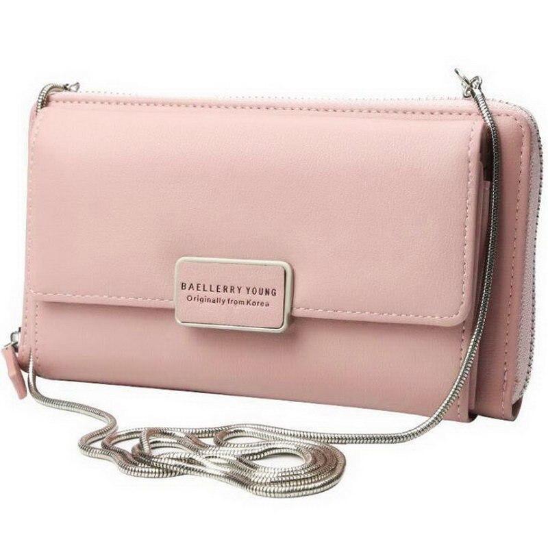 Baellery bolsos de lujo Bolsos De Mujer bolsos de diseñador de cuero PU cartera elegante bandolera tarjetas titular cremallera bolso largo Bolsas