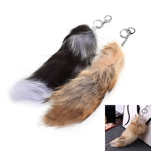 1Pc Charm Pendant Large Faux Fox Fur Tail Keychain Fur Handbag Hanging Key Ring For Women Ladies Gir