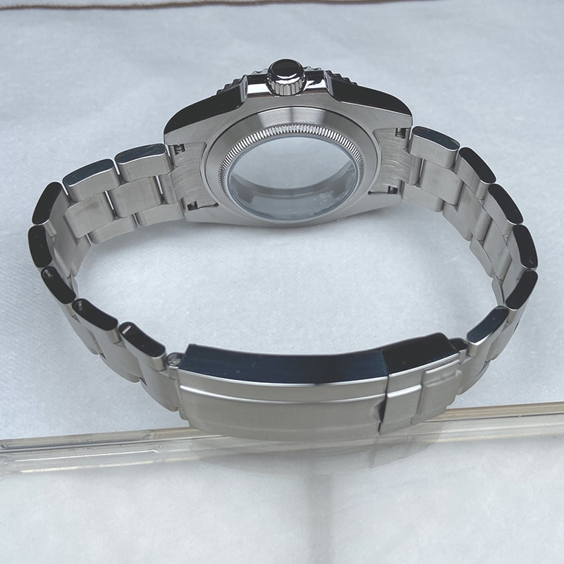 nh35 nh36 eta 2824 dial movement 40mm stainless steel Sapphire glass Men's watches case parts Watchband Bracelet For rolex style enlarge