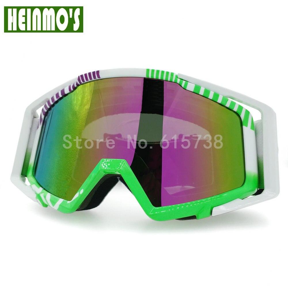 Новые очки для мотокросса мотоциклетные шлемы защитные в зеленой оправе|helmet