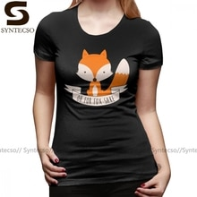 Leuke T-shirt Oh Voor Fox Sake T-shirt Grafische O Hals Vrouwen Tshirt Zomer Grote Maat Trendy Navy 100 Katoen dames T-shirt