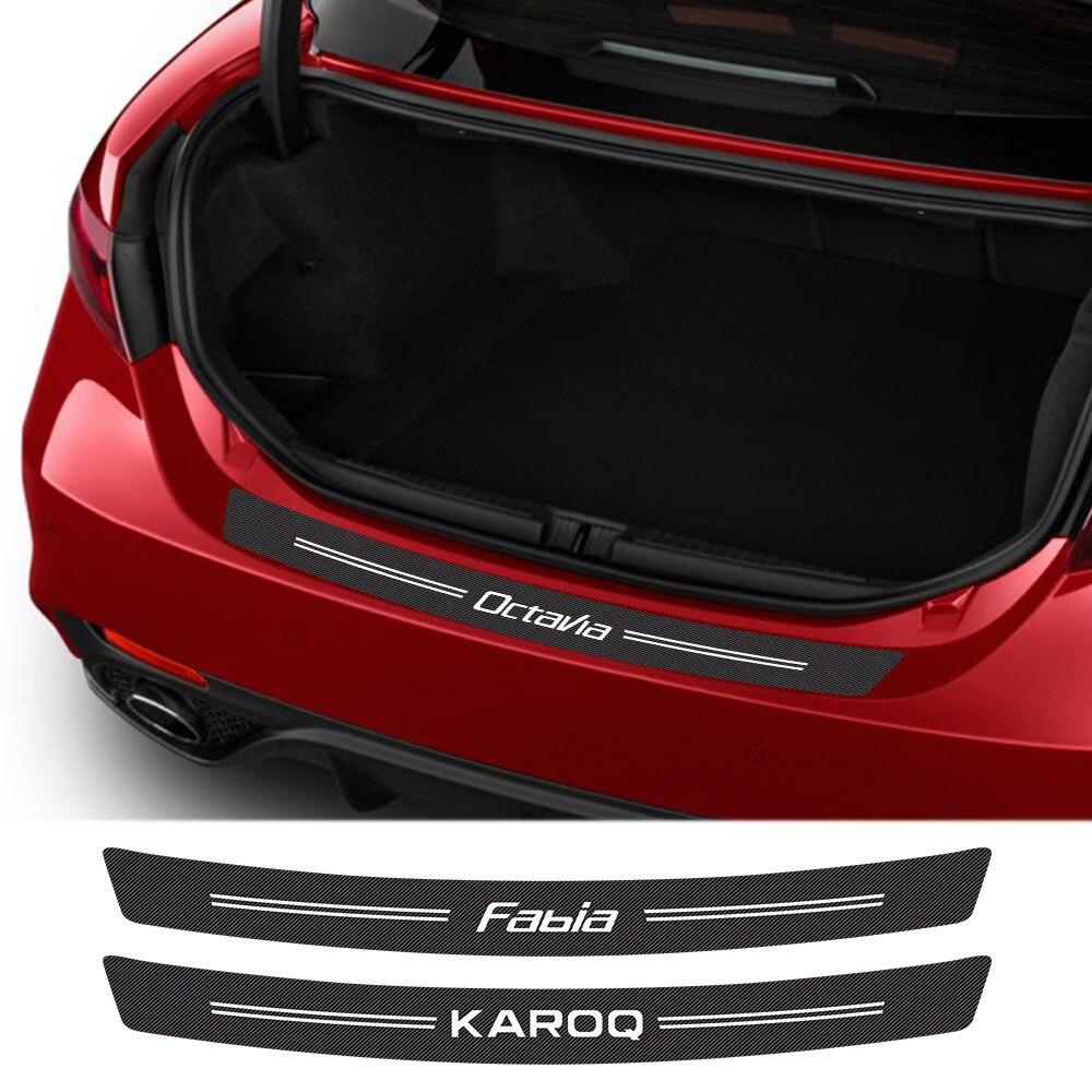 Pegatinas protectoras para parachoques trasero y maletero de coche, para Skoda Octavia...