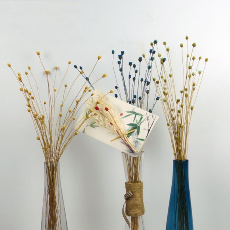 50 Stems Dried Flowers Happy Flower Natural Plants Bouquet Decorative Floral for Home Wedding Decoration Festival Party Supplies