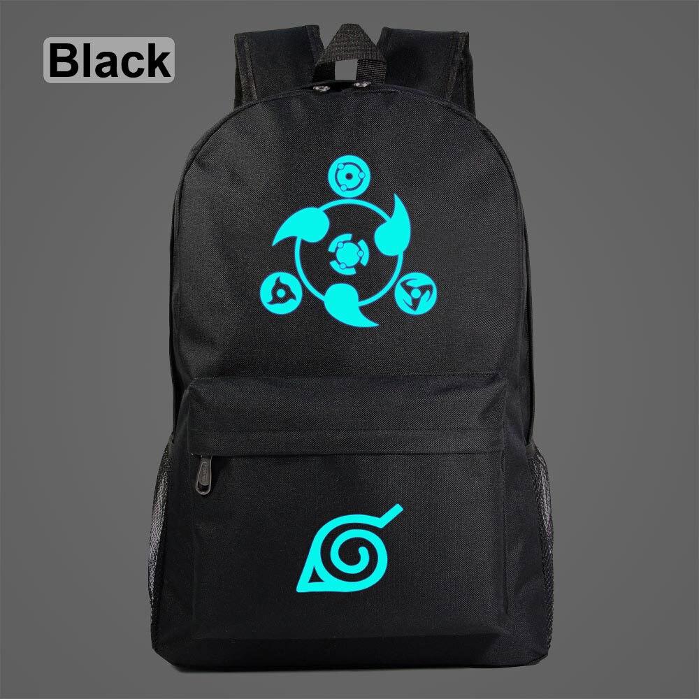 2019 Luminous Anime Cartoon Naruto Sasuke Sharingan Galaxy Children School bag Teenagers Student Schoolbags Women Men Backpack