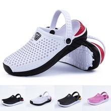 Sandalias de playa de moda Unisex, zapatillas de suela gruesa, sandalias antideslizantes impermeables, chanclas para hombres y mujeres