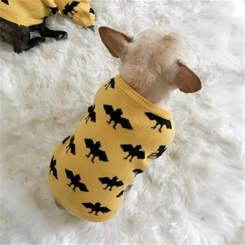New 2019  Dog Clothes For Small Dogs Chihuahua Yorkies Pug Clothes Coat Winter Dog Clothing Pet Puppy Jacket Ropa Perro yellow