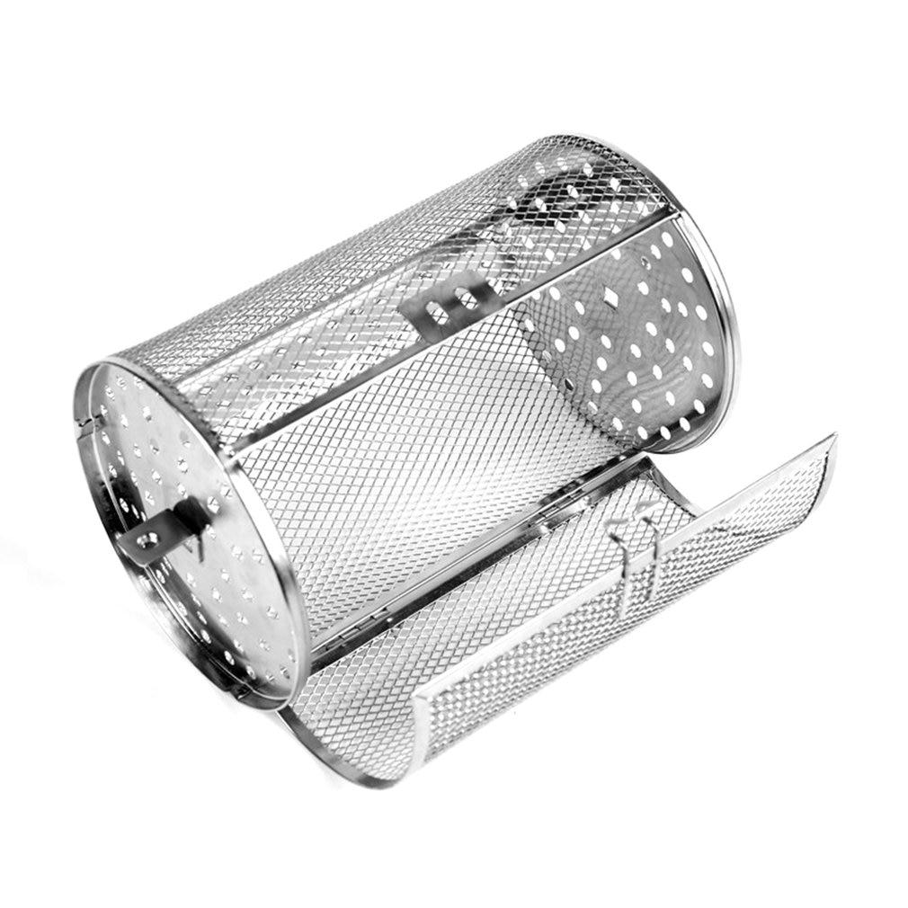 Horno eléctrico Universal giratorio de acero inoxidable, jaula para asar de 8 pulgadas, horno eléctrico, jaula rotativa para asar, tambor, aparatos para hornear
