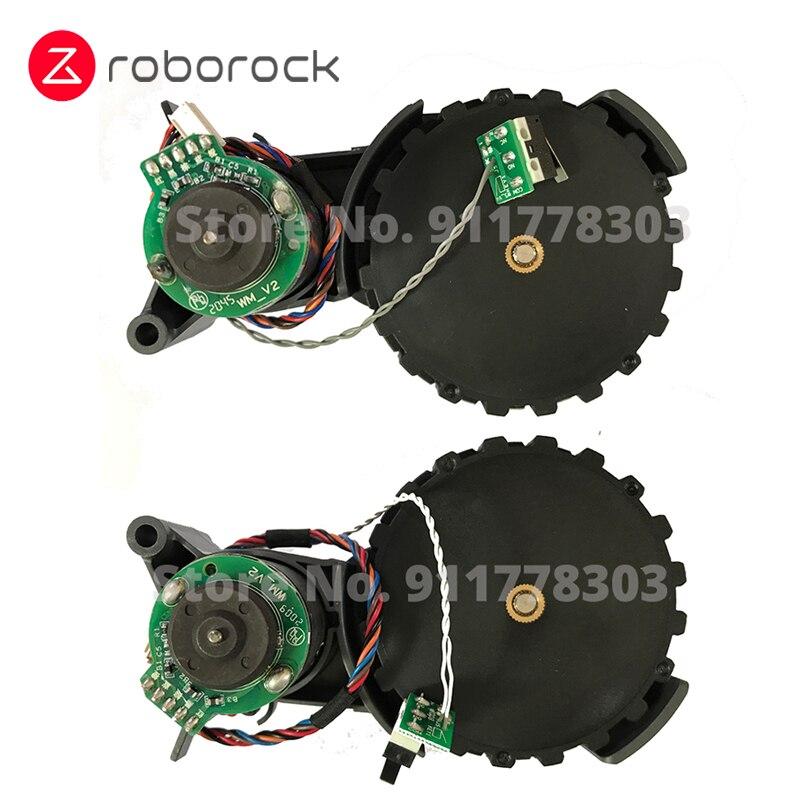 عجلة سفر يسار ويمين أصلية مع محرك لـ Roborock S50 Max S55 Max جهاز آلي لتنظيف الأتربة