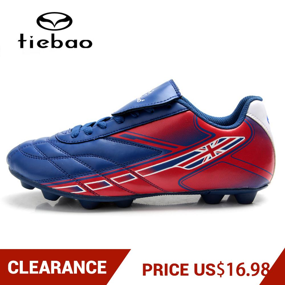 Clearance! TIEBAO Men Women TF Turf Sole Football Boots Outdoor Soccer Shoes Athletic Training Sports Shoes Zapatos De Futbol